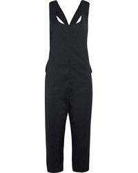 DKNY Stretch Crepe Jumpsuit Navy