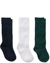 Girls 7 11 Trimfit 3 Pk Cable Knit Knee High Socks
