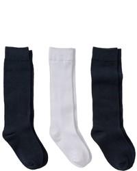 Girls 7 11 Trimfit 3 Pk Flat Knit Knee High Socks