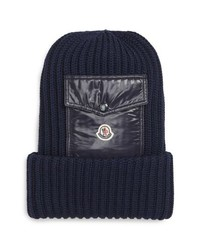 Moncler Berretto Wool Beanie With Pocket