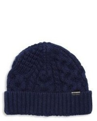 Burberry Cable Knit Cashmere Blend Beanie