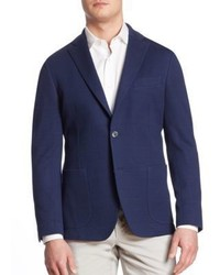 Saks Fifth Avenue Collection Knit Checkered Jacket