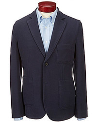 Brooks Brothers Double Knit Patch Pocket Elbow Patch Blazer