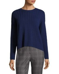 Peserico Cable Knit Hi Lo Sweater