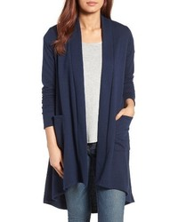 Bobeau Highlow Fleece Knit Cardigan