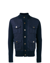 Jacob Cohen Knitted Sleeve Jacket