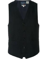 Blue Blue Japan Knitted Waistcoat