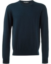 Navy Knit Crew-neck Sweater