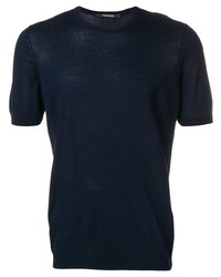 Tagliatore Crew Neck Knitted T Shirt