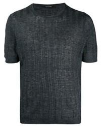 Tagliatore Knitted Linen T Shirt