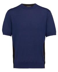 Prada Two Tone Knitted T Shirt