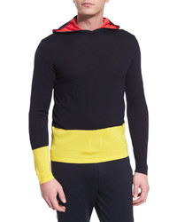 Ralph Lauren Colorblock Knit Hoodie Navy