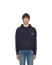 Off-White Navy Knit Arrows Hoodie