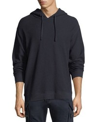 Vince Waffle Knit Cotton Hoodie
