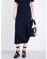 Jw anderson draped fitted merino wool midi skirt medium 5369256