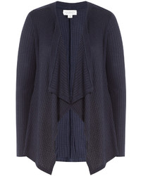 Navy Knit Open Cardigan