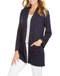 Foxcroft Lessie Jersey Knit Open Front Cardigan