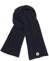 Navy Knit Scarf