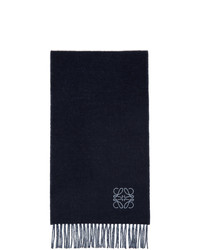 Loewe Blue And Navy Wool Anagram Scarf