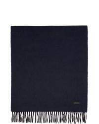 BOSS Blue Wool Heroso Scarf