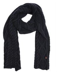 Gucci Green Cable Knit Wool Scarf