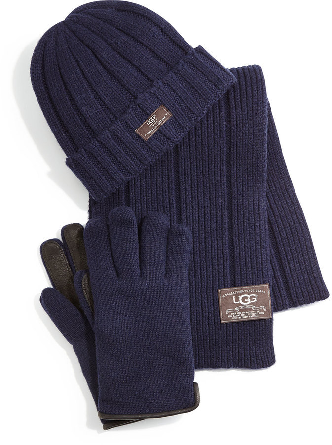 59bfdc014c8 ... UGG Hat Scarf And Glove Box Set Blue ...