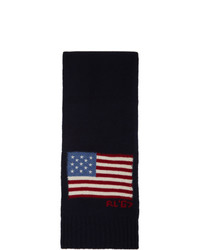 Polo Ralph Lauren Navy Wool Scarf
