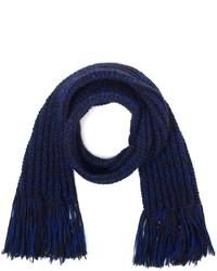 The North Circular Sapphire Colour Marl Wool Scarf