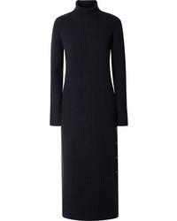 Marni Ribbed Wool Turtleneck Maxi Dress