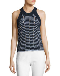 Rag & Bone Daniela Cable Knit Tank Navy
