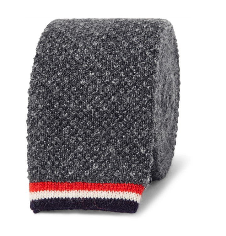 9658722bab4 ... Thom Browne 5cm Knitted Cashmere Tie ...