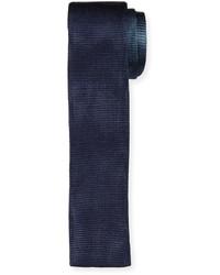 Hugo Boss Boss Colorblock Knit Skinny Tie Navy