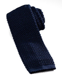Charvet Knit Silk Tie Marine