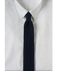 Classic Cotton Cable Knit Necktie Lunar Navyxl