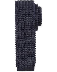 Lanvin Knit Silk Tie Navy