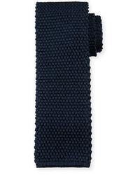 Solid knit silk tie medium 703654