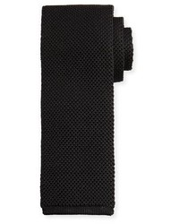 Tom Ford Solid Open Weave Knit Tie Blue