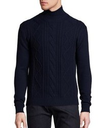 Vilebrequin Active Wool Cable Knit Turtleneck Sweater