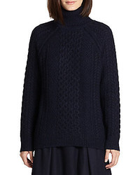 Cable knit turtleneck sweater medium 446264