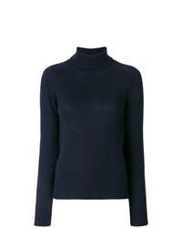 Prada Elbow Patch Roll Neck Sweater