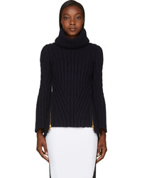 Navy thick knit turtleneck medium 126773