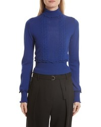 Puffy cable turtleneck sweater medium 5264744