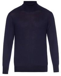 Richard James Roll Neck Fine Cashmere Knit Sweater