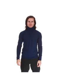 VERSACE JEANS COUTURE Turtleneck Sweater Navy L Xl Xxl 3xl