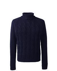 Classic Wool Alpaca Blend Turtleneck Sweater Charcoal Heatherm
