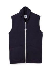Navy Knit Waistcoat