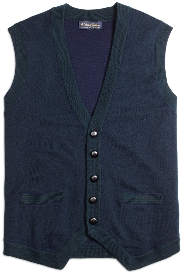 Brooks Brothers Merino Wool Button Down Vest Where To