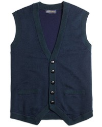 Brooks Brothers Merino Wool Button Down Vest