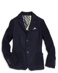 Armani Junior Little Boys Boys Cable Knit Blazer