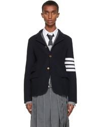 Thom Browne Navy 4 Bar Sack Sport Coat Blazer